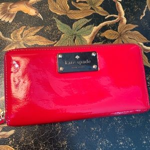Kate Spade Patent Leather Wallet Clutch